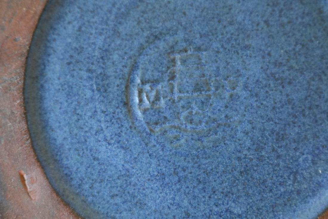 Marblehead Pottery Blue Matte Bowl - 3