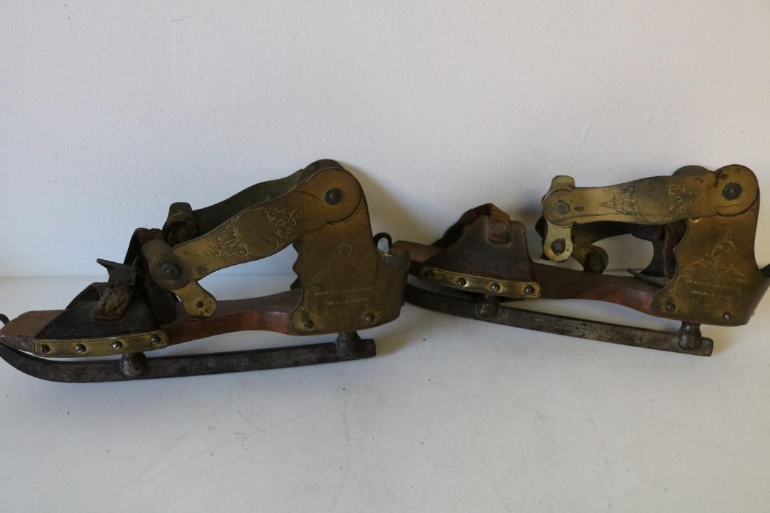 Rare Douglas Rogers & Co. Antique Ice Skates