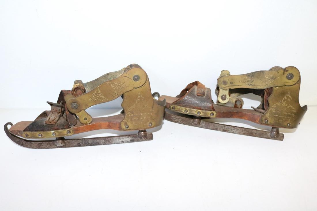 Rare Douglas Rogers & Co. Antique Ice Skates - 2