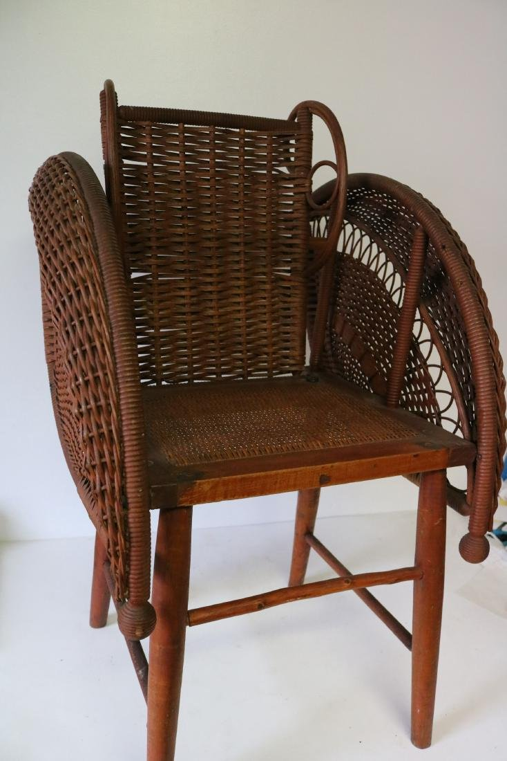Antique Wicker Heywood Wakefield Childs Chair