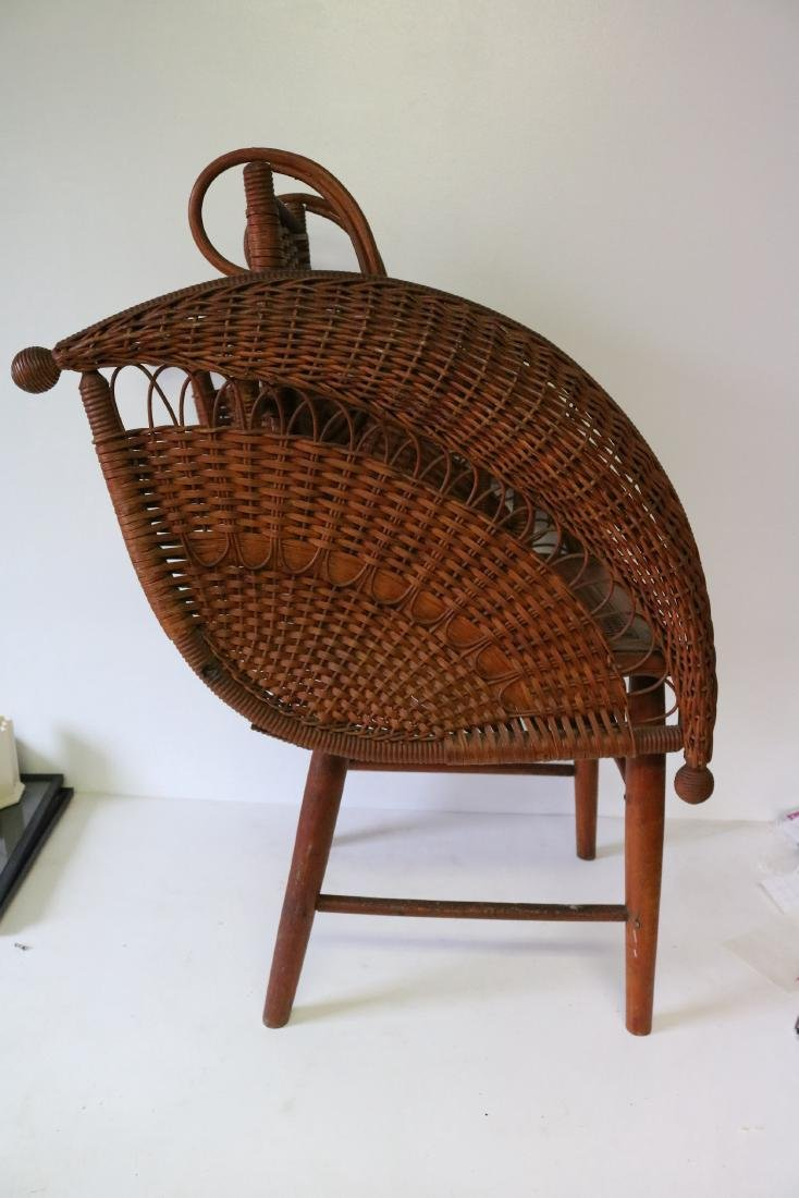 Antique Wicker Heywood Wakefield Childs Chair - 2