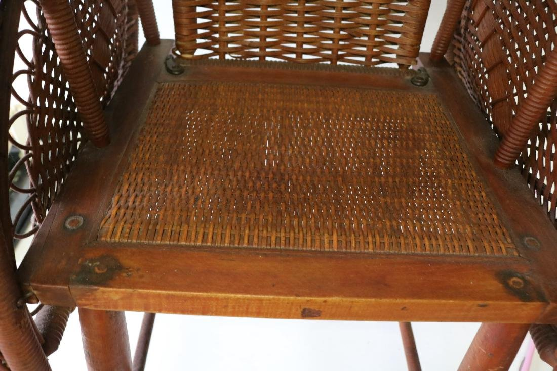 Antique Wicker Heywood Wakefield Childs Chair - 5