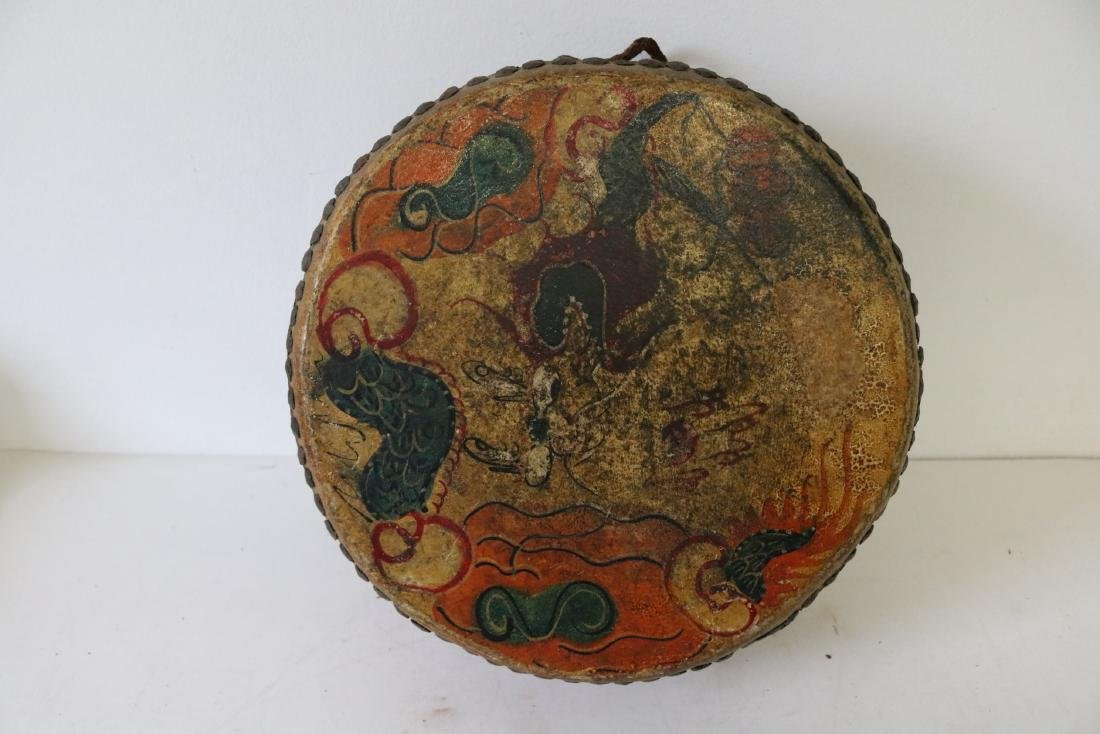 Asian Hand Made, Hand Painted Drum