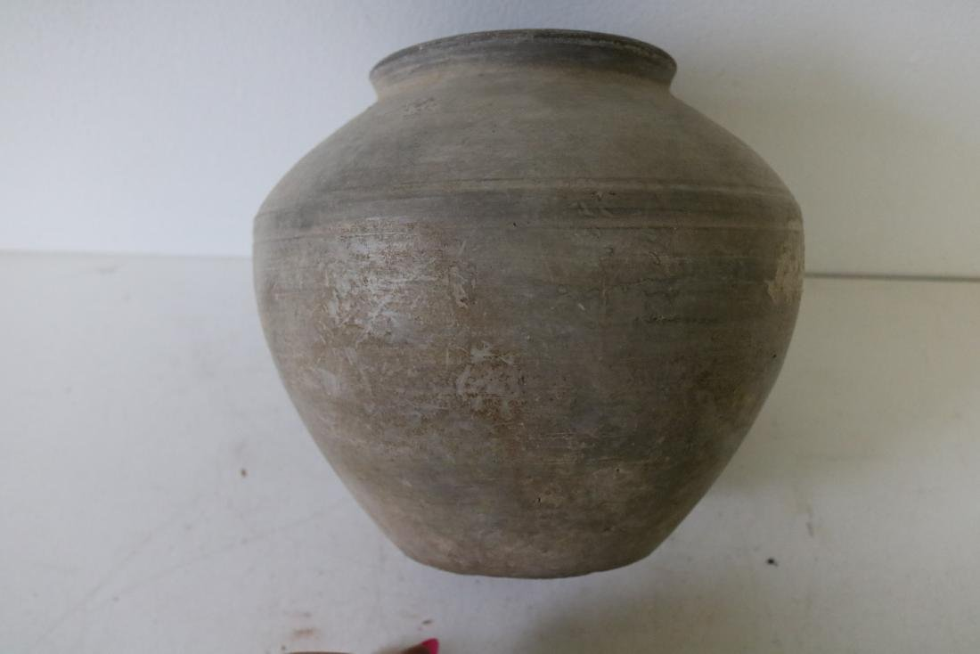 Early Asian Clay Vase - 4