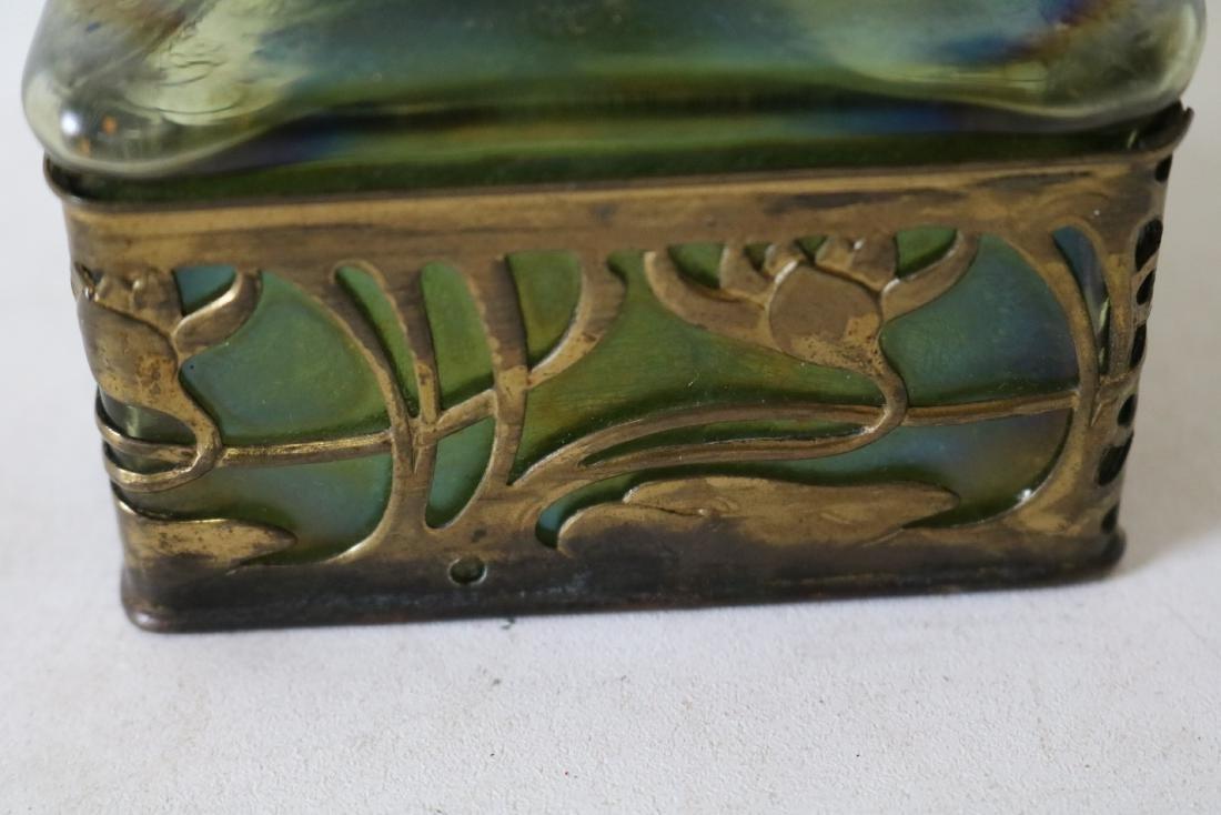 Loetz Art Glass Ink Well with Rams Head Top - 5
