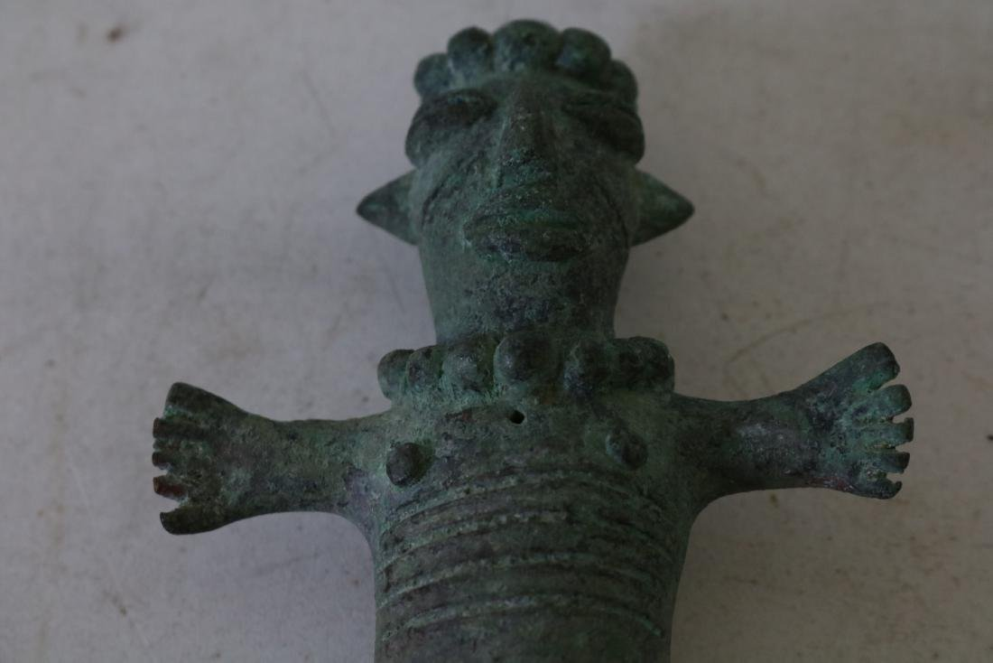 Old Bronze Figure, Archaic Type - 5