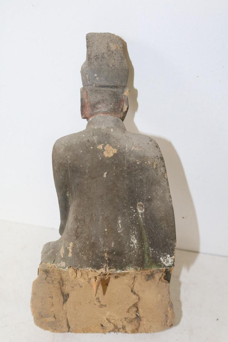 Ming Dynasty Pottery Figure, Saint - 3