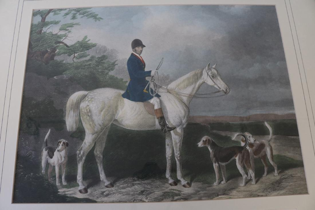 Mr. Will Long on Bertha, Hunt Scene Engraving by - 2