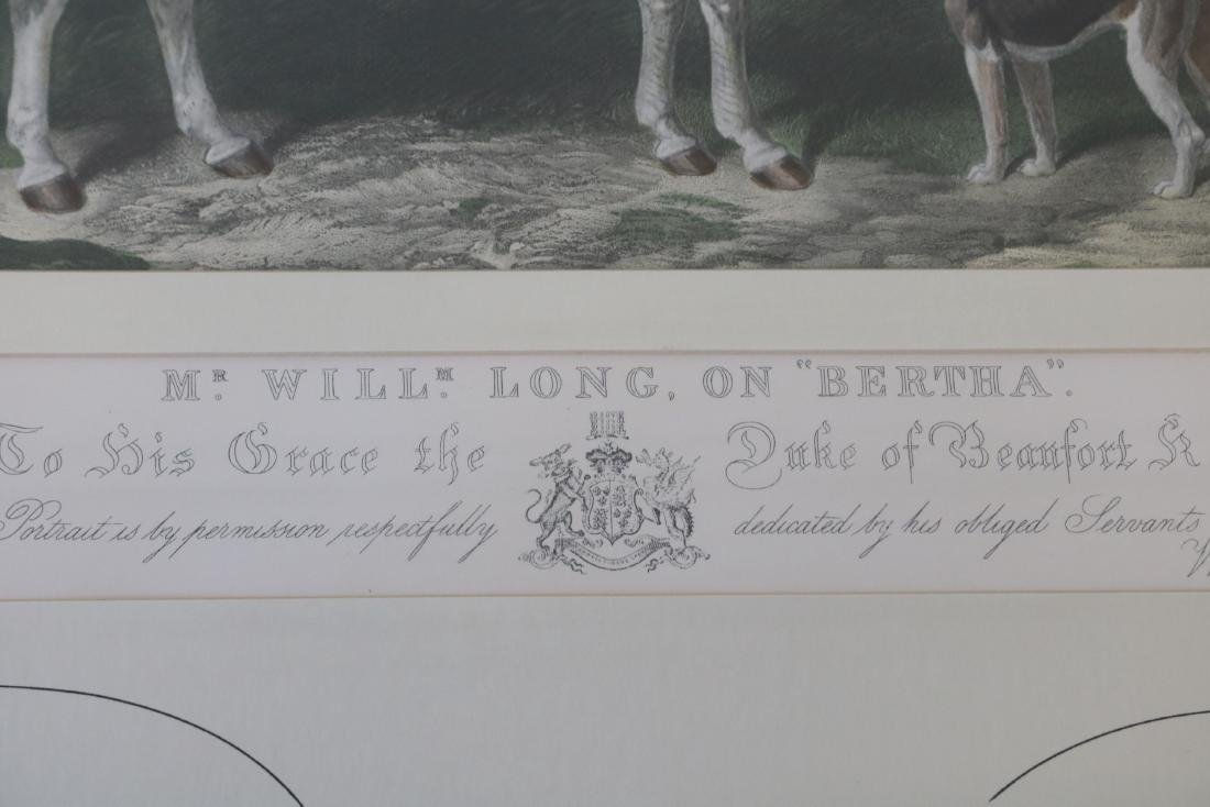 Mr. Will Long on Bertha, Hunt Scene Engraving by - 5