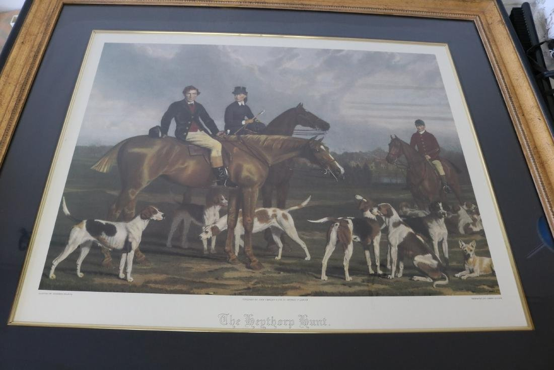 The Heythorp Hunt, Engraving