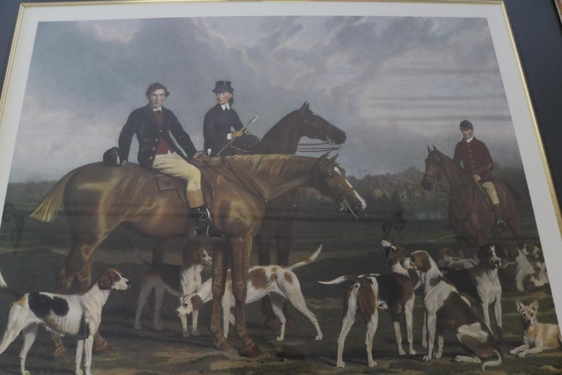 The Heythorp Hunt, Engraving - 2