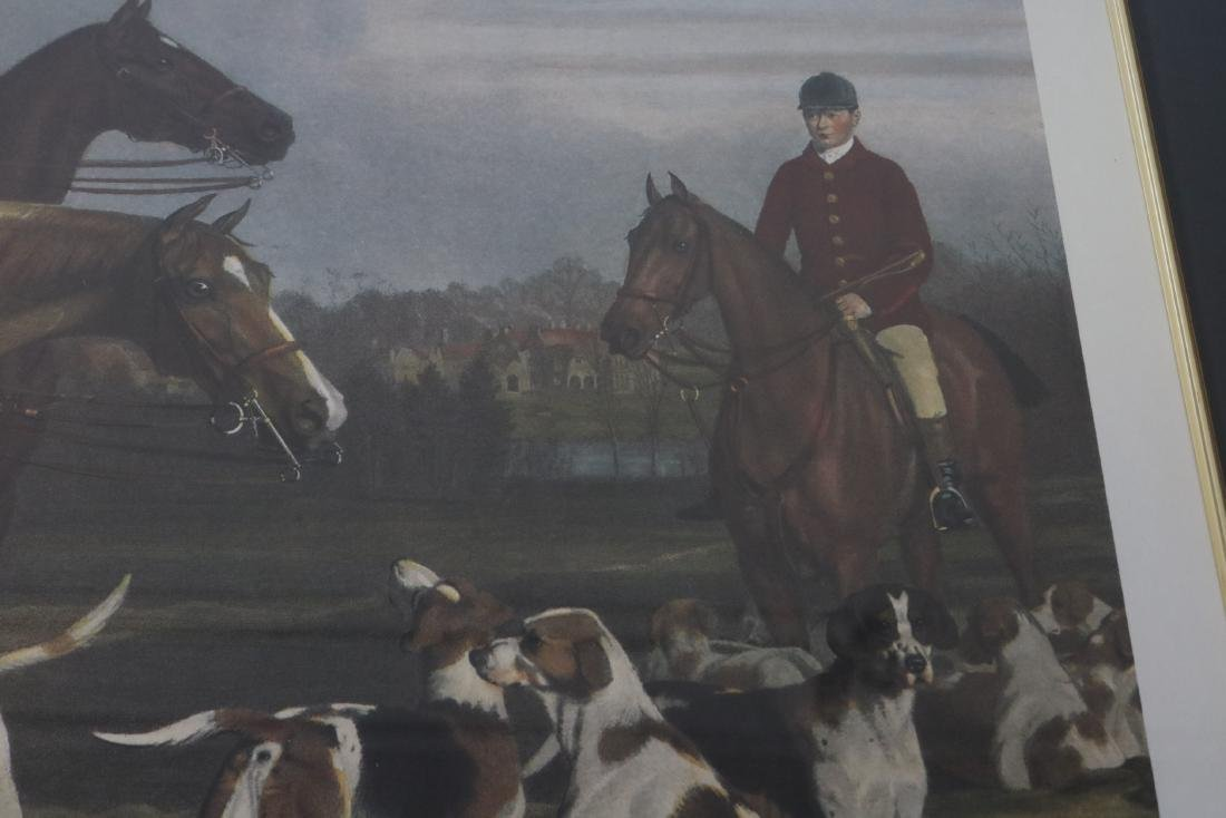 The Heythorp Hunt, Engraving - 4