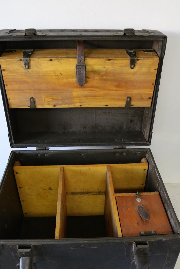 Antique Military Mess Trunk - 4