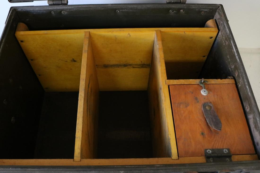 Antique Military Mess Trunk - 5