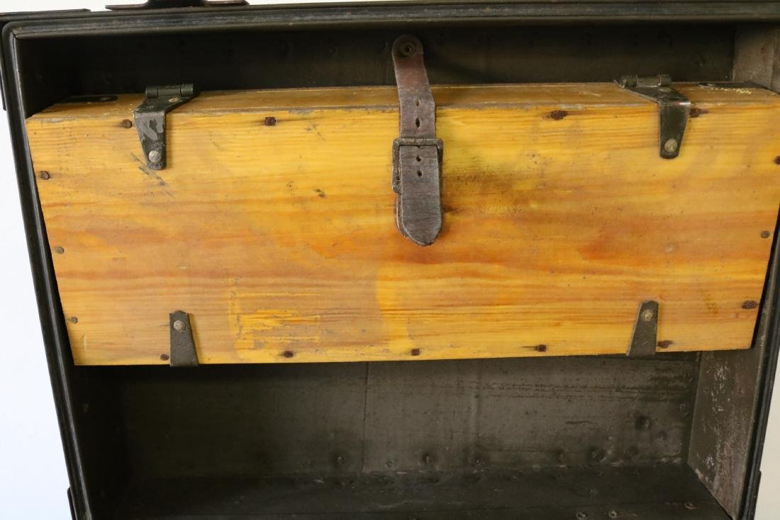 Antique Military Mess Trunk - 7