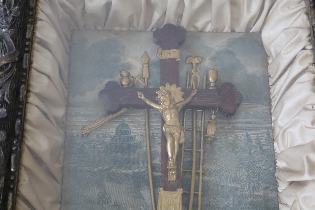 1877 The Kingdom Come Antique Religious Shadow Box - 2