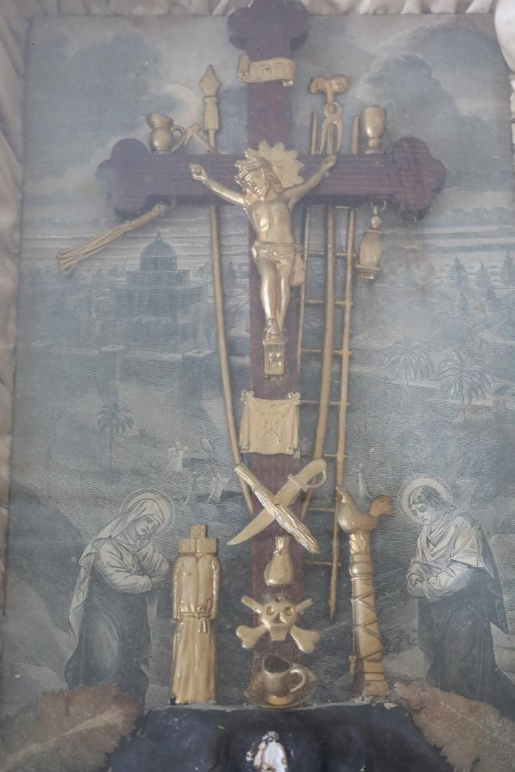 1877 The Kingdom Come Antique Religious Shadow Box - 3