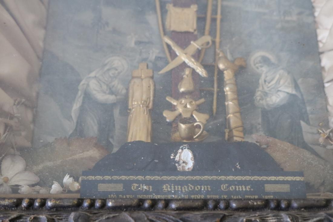 1877 The Kingdom Come Antique Religious Shadow Box - 4