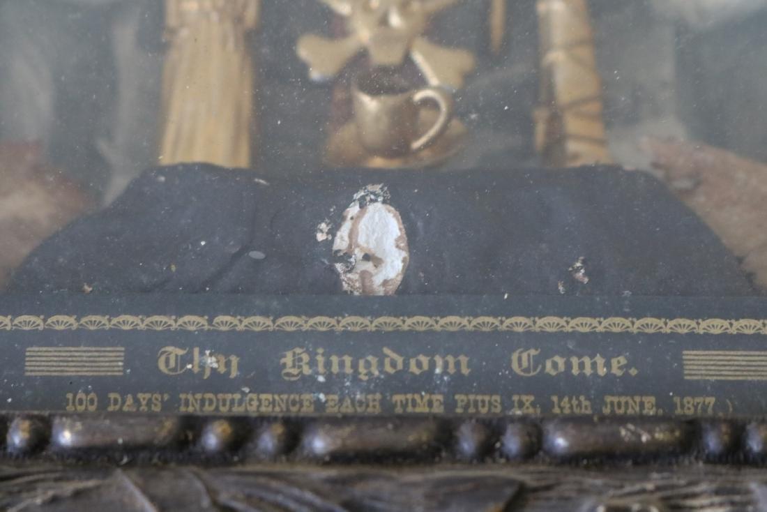 1877 The Kingdom Come Antique Religious Shadow Box - 5
