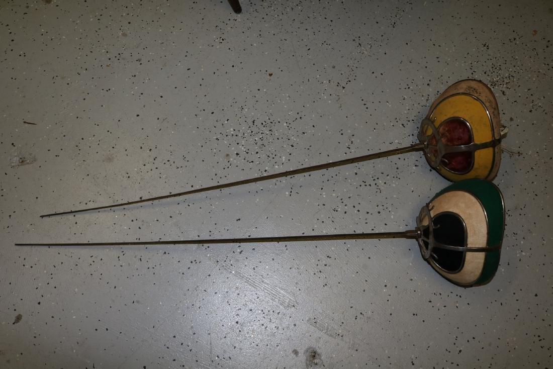 pair Antique Fencing Swords