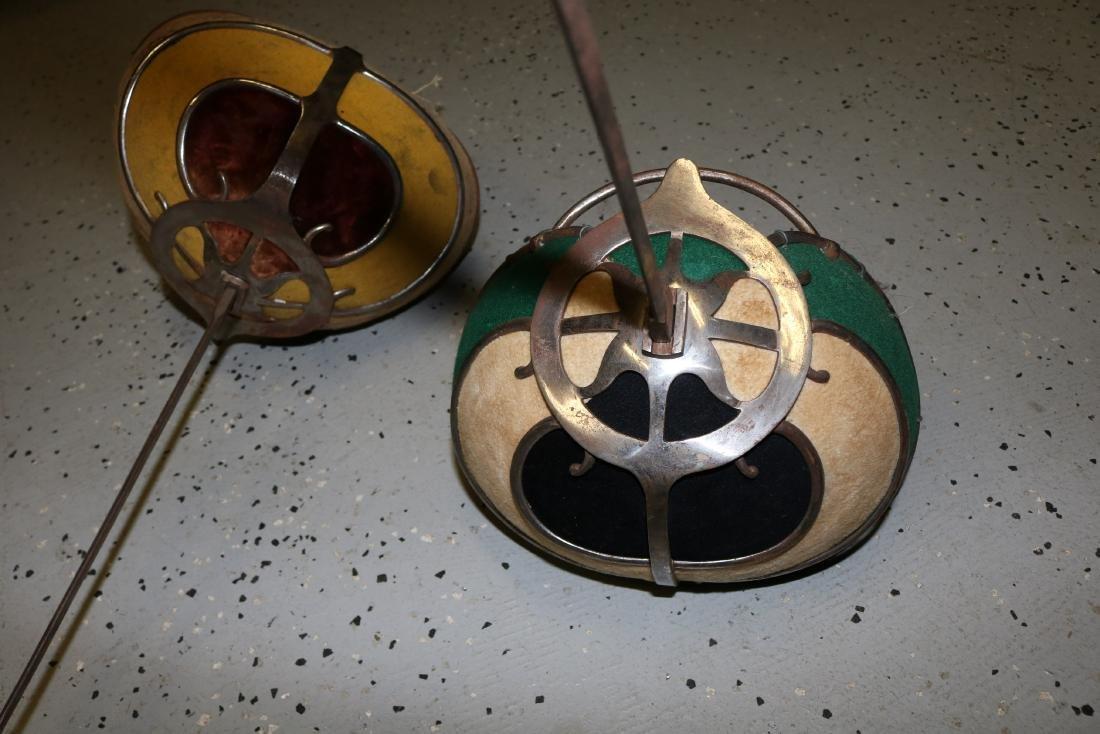 pair Antique Fencing Swords - 2