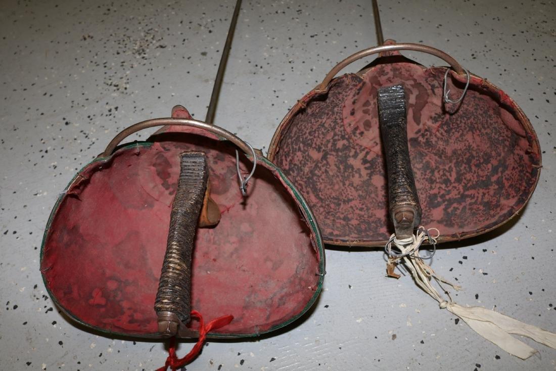 pair Antique Fencing Swords - 4