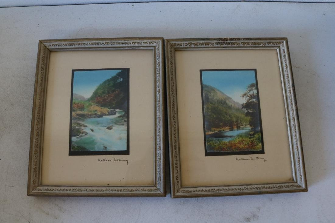 Pair of Wallace Nutting Hand Colored Photo's, Signed