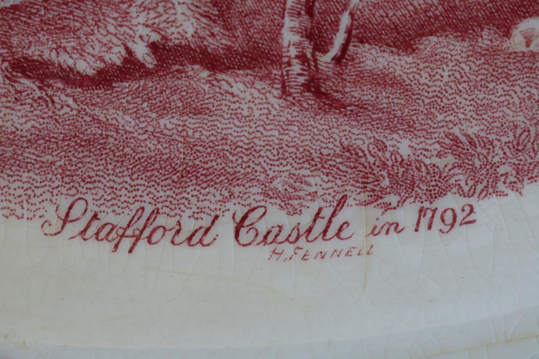 Red Transferware Stafford Castle 1792, Johnson Bros. - 8