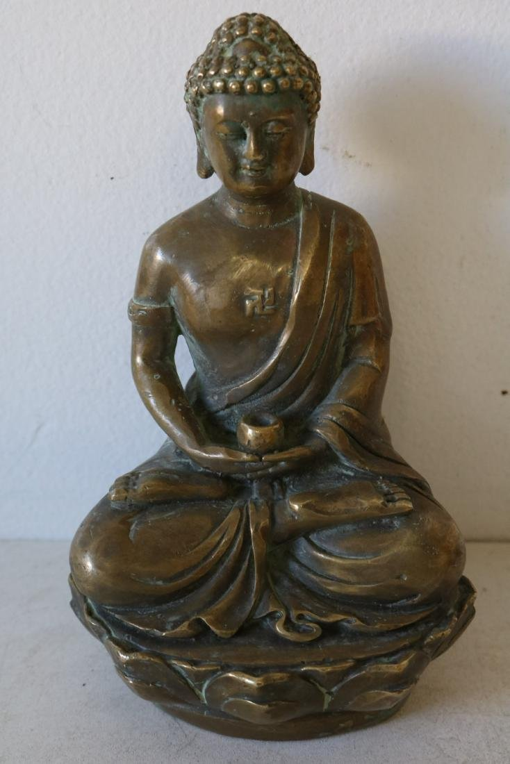 Asian Carved Brass Buddha
