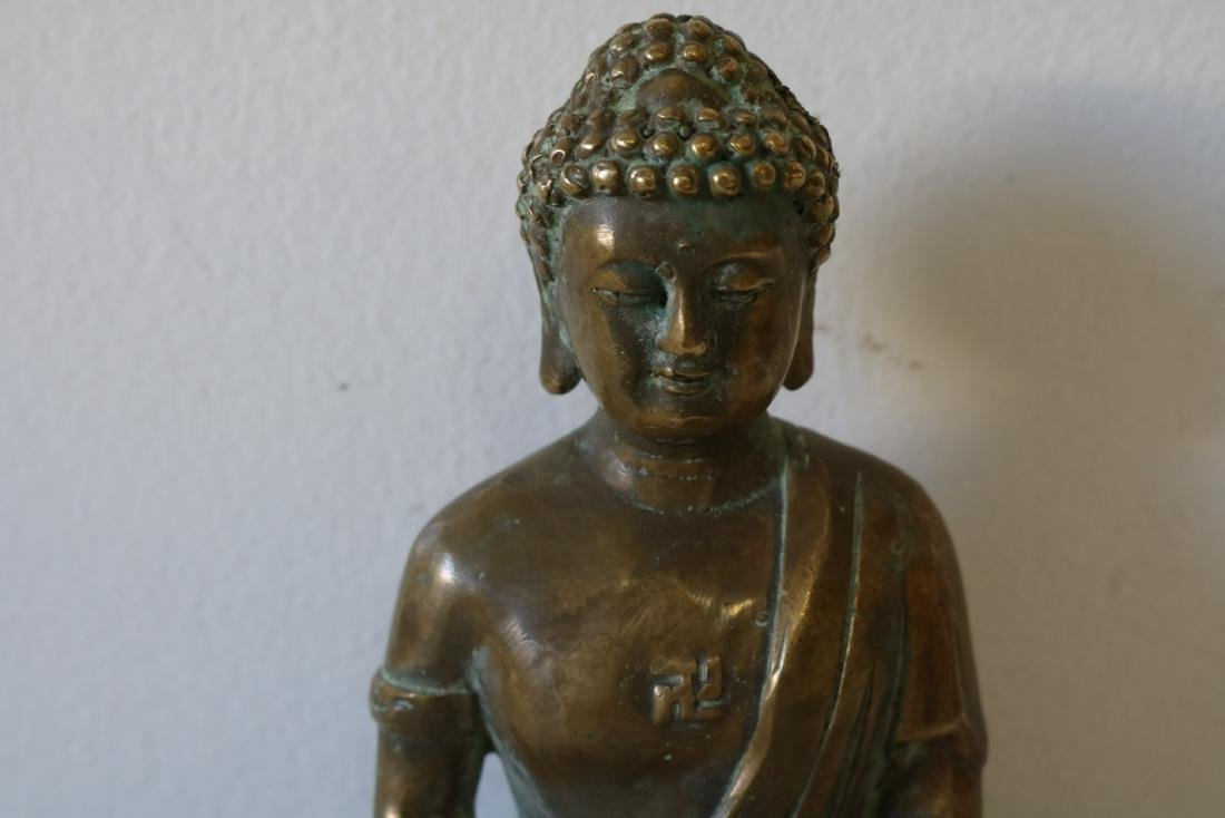 Asian Carved Brass Buddha - 2