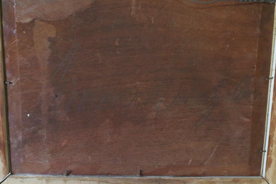 Antique Oil on Board, signed on back - 8