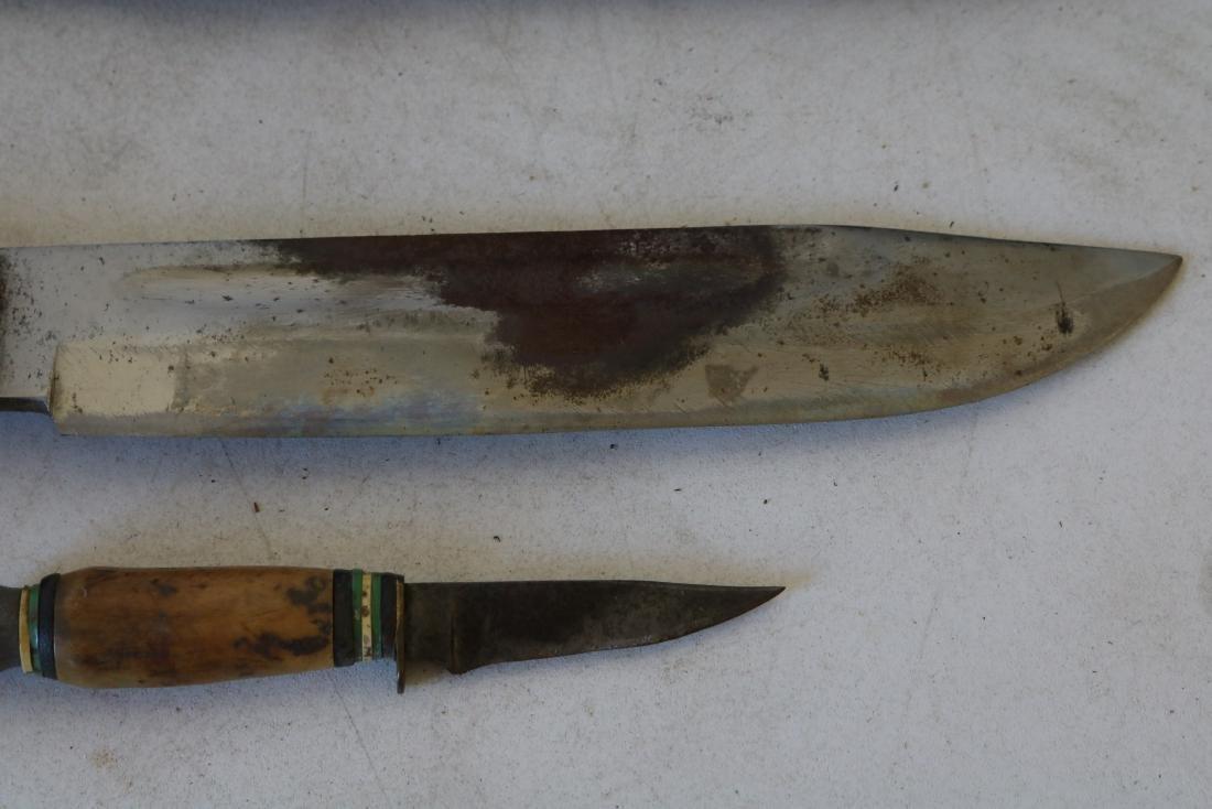 Antique Hunting Knife Set with Horn Handles, Solingen, - 5