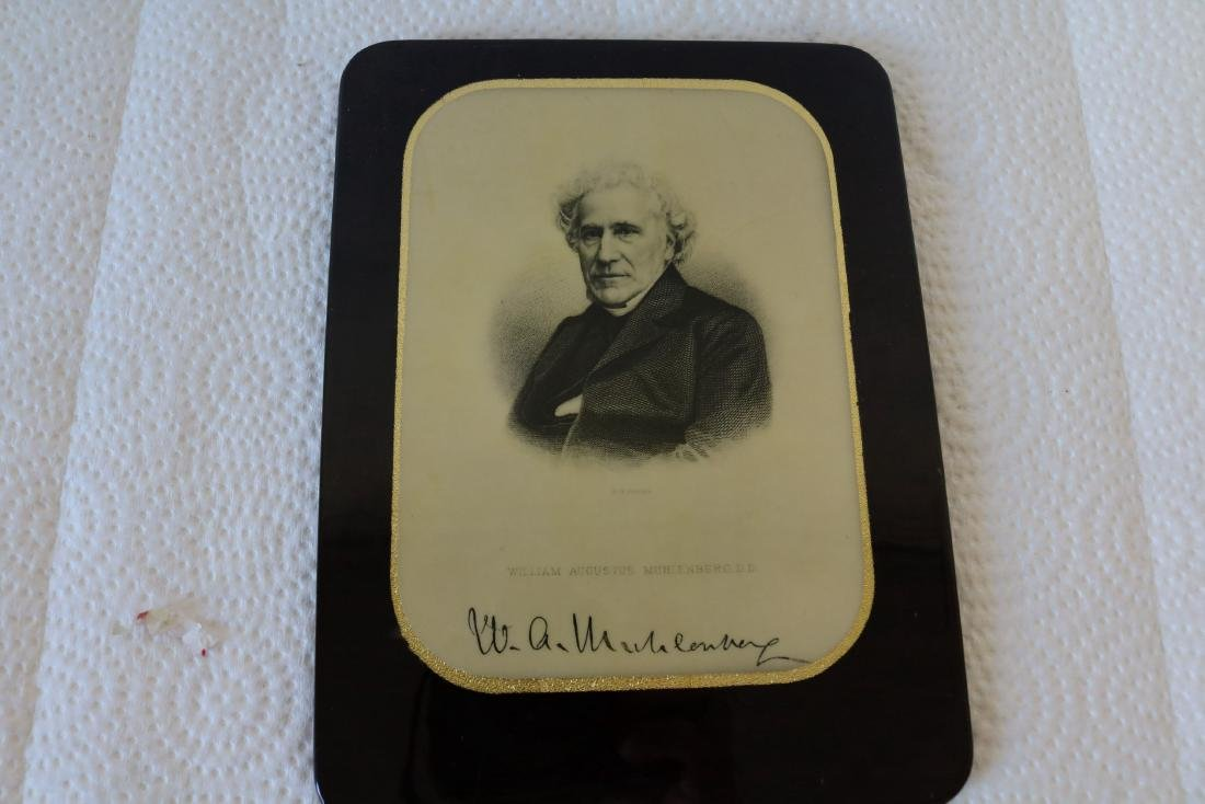 Signed Antique Celluloid Photo W.A. Muhlenberg, DD