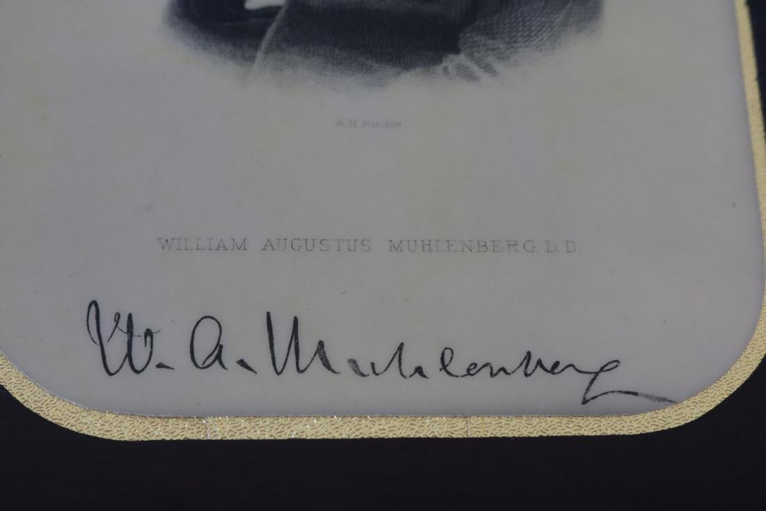 Signed Antique Celluloid Photo W.A. Muhlenberg, DD - 3