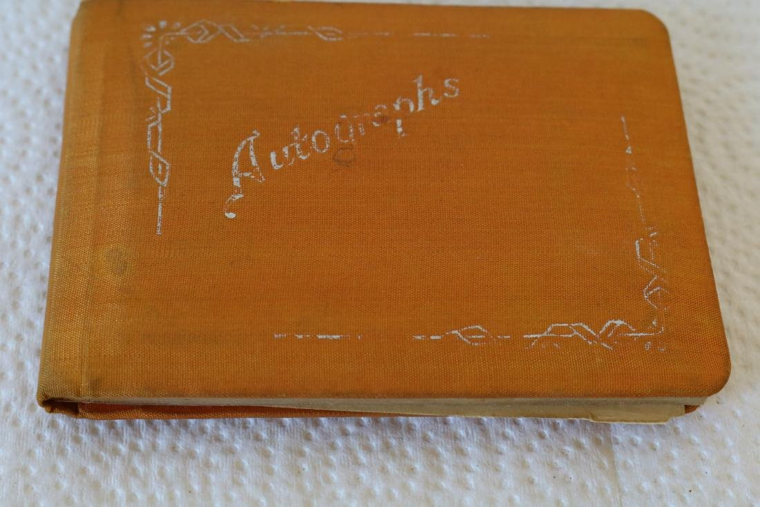 Silk Covered Autograph Book, 1938-41, with great