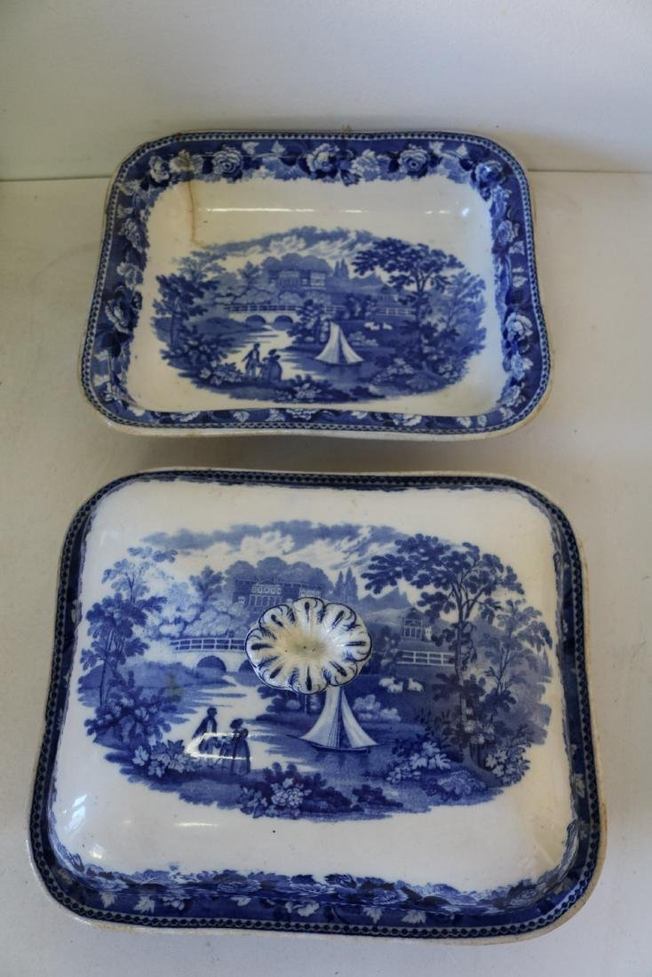 "Wedgewood Square Covered Bowl ""Landscape"" pattern"