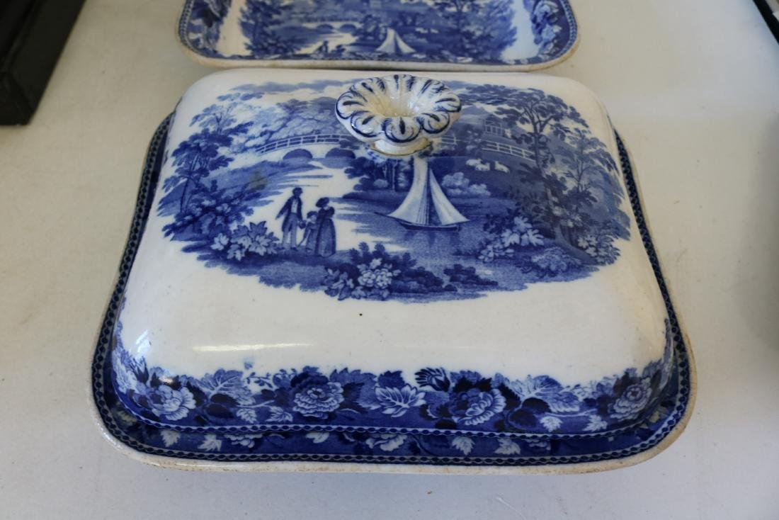 "Wedgewood Square Covered Bowl ""Landscape"" pattern - 3"