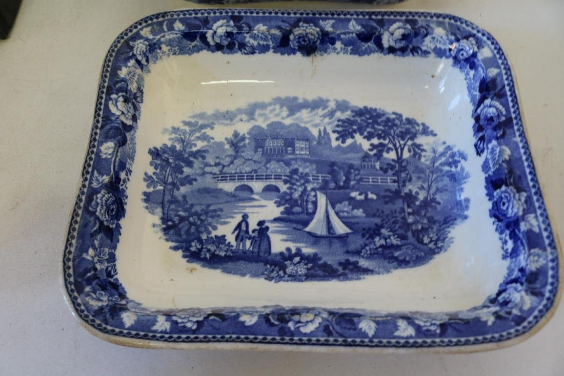 "Wedgewood Square Covered Bowl ""Landscape"" pattern - 4"