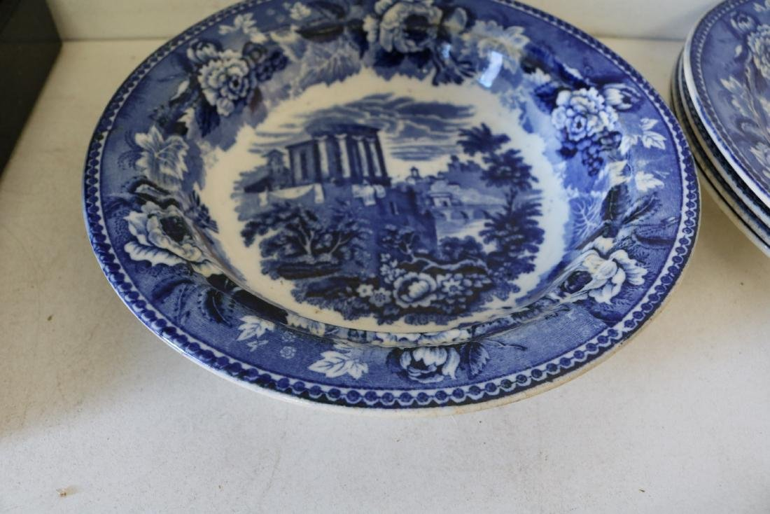 "Lot of Wedgewood Flow Blue ""Landscape"" pattern - 2"