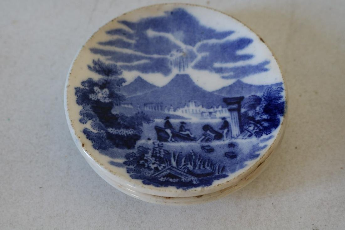 "Lot of Wedgewood Flow Blue ""Landscape"" pattern - 4"