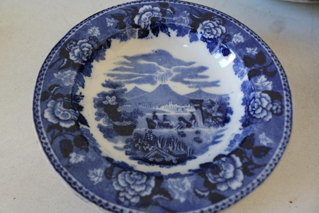 "Large Lot of Wedgewood Flow Blue ""Landscape"" pattern - 2"