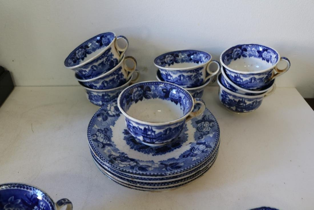 "Large Lot of Wedgewood Flow Blue ""Landscape"" pattern - 8"