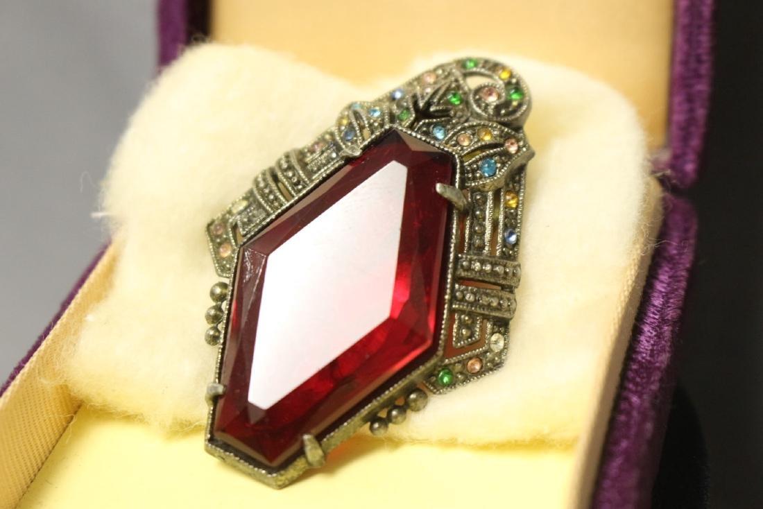 1930s rhinestone clip