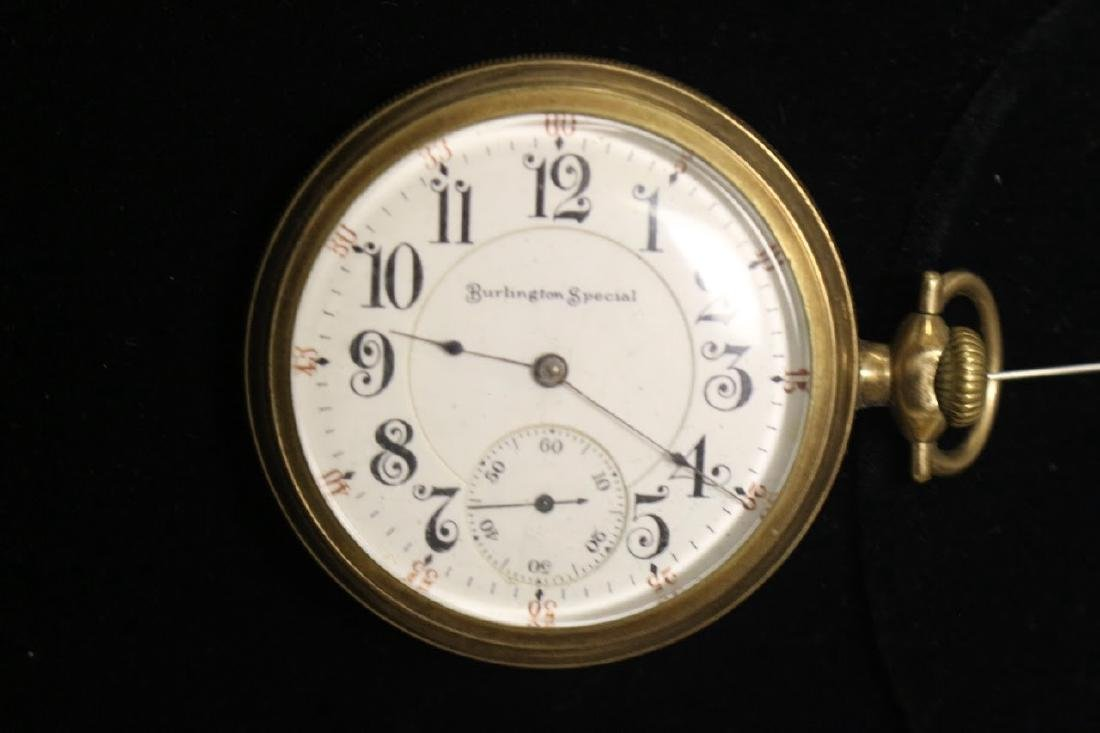 Antique mens burlington special pocketwatch