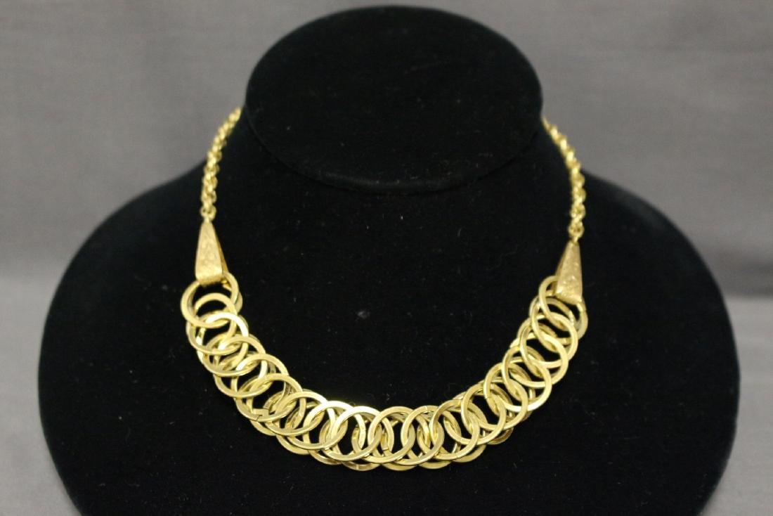 1940s Brass Linked Necklace