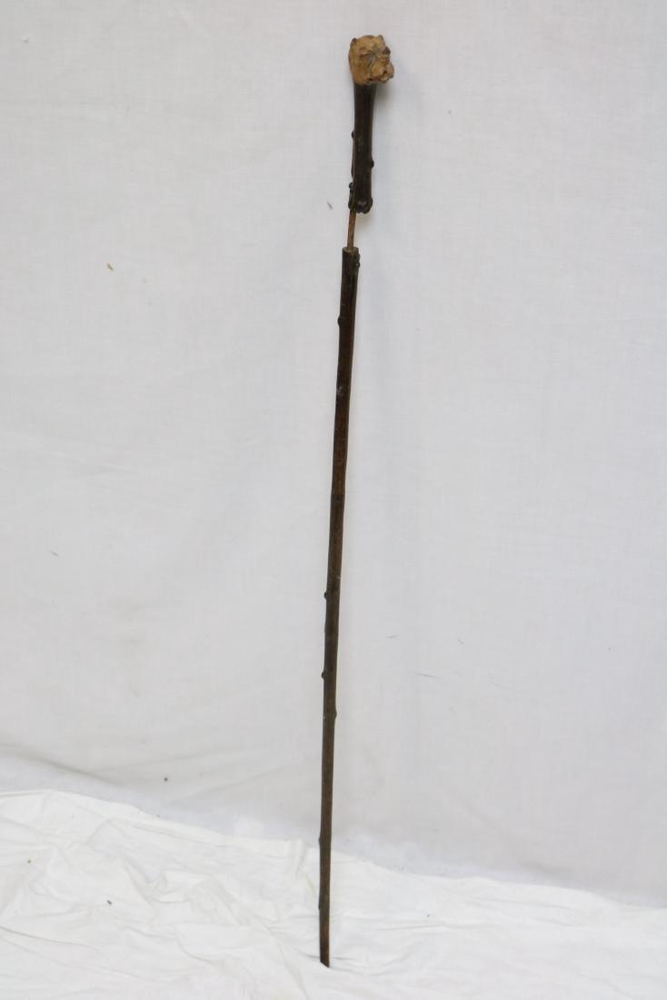 Antique Walking Stick with Bulldog Handle