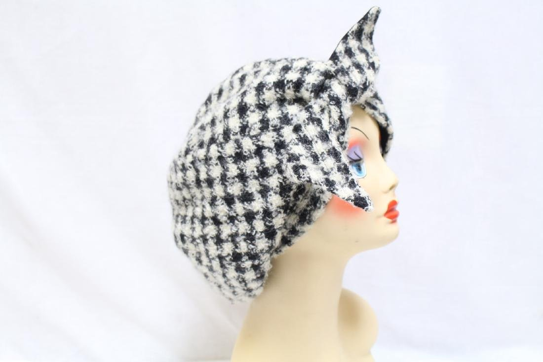1960s Checkered Wool Hat