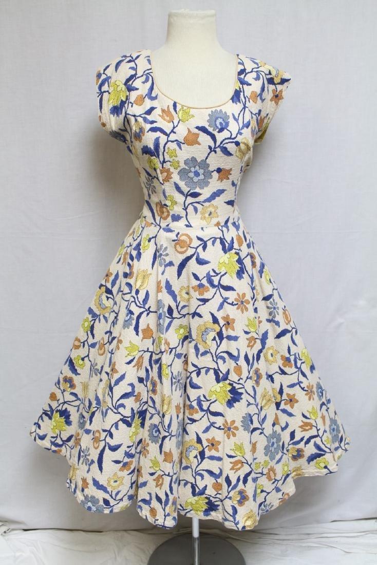 1950s Needle Point Style Dress