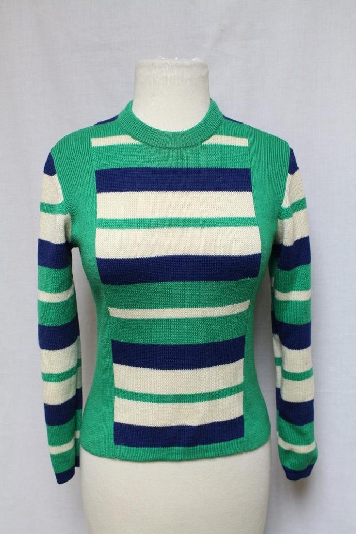 Vintage 1970s Striped Wool Sweater