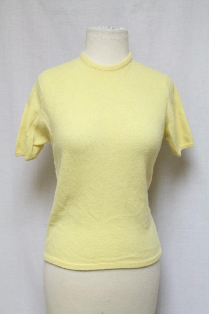 Vintage 1960s Saks Fifth Ave. Yellow Cashmere Top